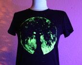 Full Moon Oak tree goddess glow in the dark unisex tee.