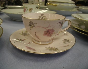 Vintage Tuscan  Windswept Pink Tea Cup and Saucer