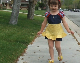 Snow White Shorts set SALE price in any size 6 months-6 years