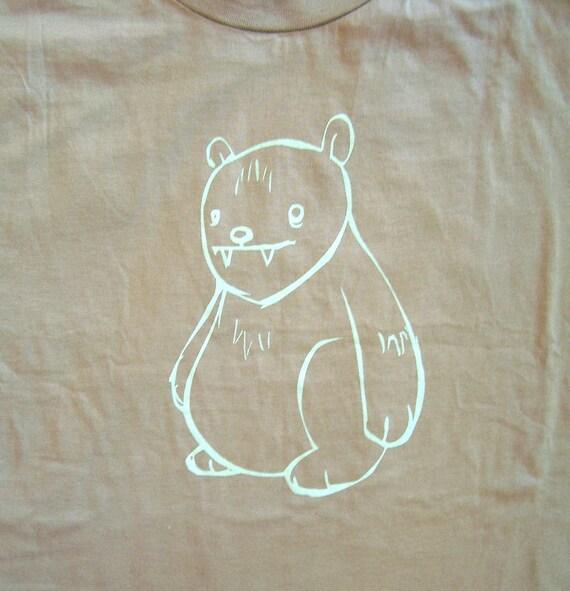 SALE Mens T Shirt - Big Ole Bear - Sand - Medium Size