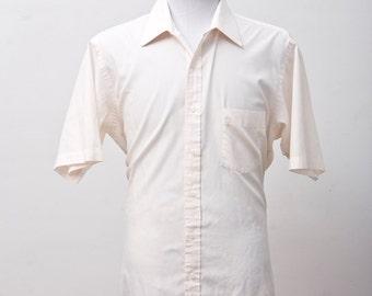 Men's Shirt / Vintage Peach Leisure Shirt by Arrow Trump / Size XL