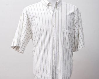 Large Vintage Gap Striped Summer Shirt