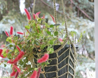 Crocheted Hanging Plant Holder/Bird Feeder -  Indoor/Outdoor  Style two