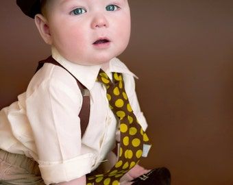 Boys brown  (or choice of any color) Newsboy hat