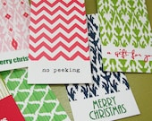 holiday multi patterned hang tag set (6) - featured in HOUSE OF FIFTY Holiday 2011 issue