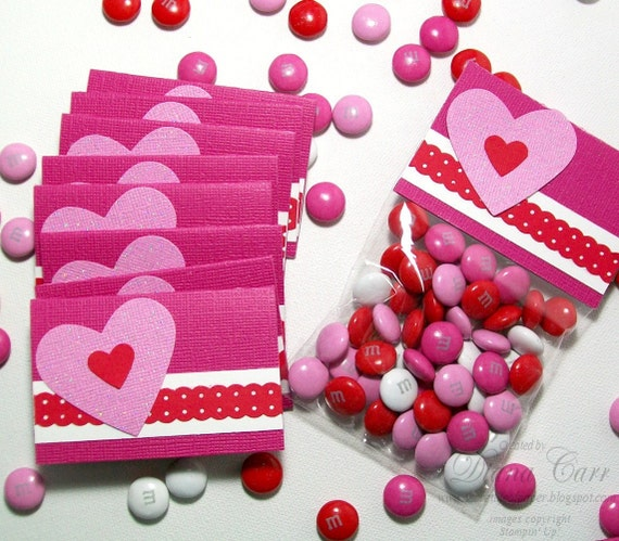 Valentine's Day Treat Bags And Toppers Glitter By