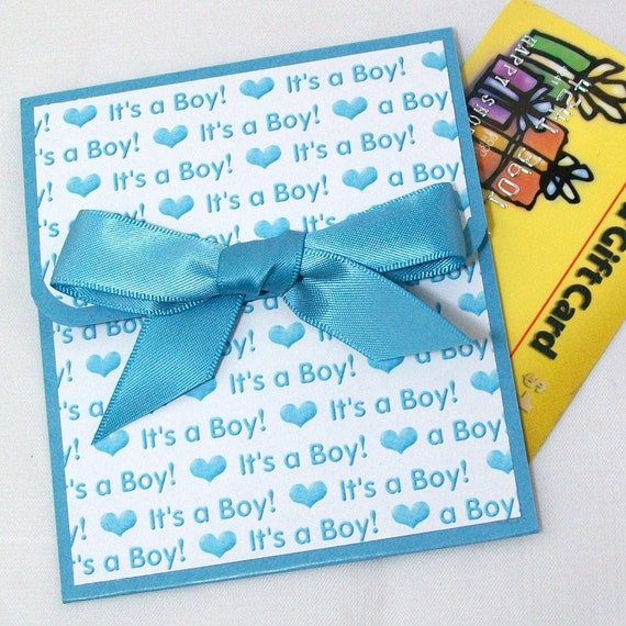 baby boy gift card holder it 39 s a boy new baby gift baby shower