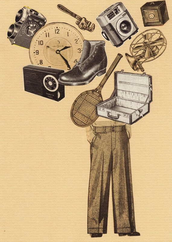The Collector. Collage print
