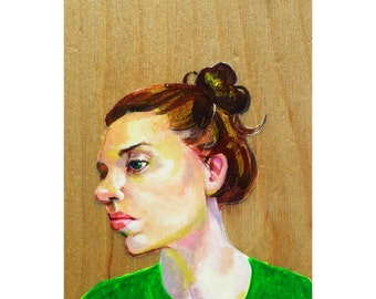 Farmer's Daughter CW - painting on wood panel