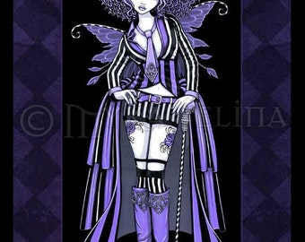 Purple Steampunk Couture Fairy 8x10 Signed PRINT Fiona