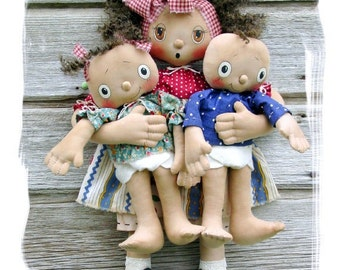 CF270 Safe in Mommy's Arms - PDF ePattern Cloth Dolls