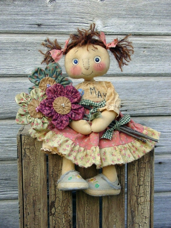 CF242 MAYS FLOWERS - Doll E-Pattern