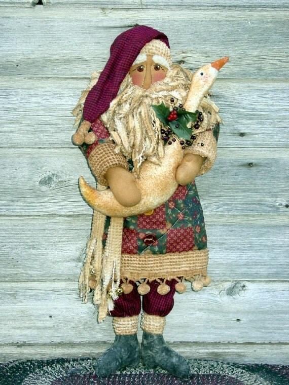 CF190 Santa's Goose Sewing Cloth Doll E-Pattern