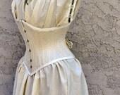 Steampunk Dresses- Corset Costume, Waist Cincher, Steel Boning