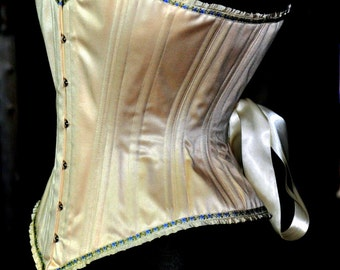 Overbust Corset- Bridal Lingerie, rustic wedding, Victorian Clothing