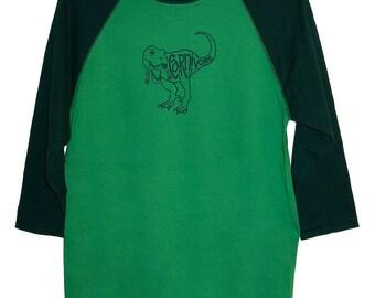 5 DOLLAR SALE Tyrannosaurus Rex Carnivore Adult 3/4 Sleeve Shirt