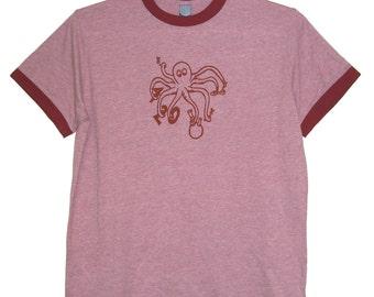 6 DOLLAR SALE: Smoking 420 Octopus Adult Shirt