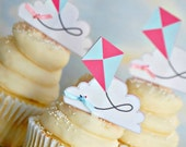 The Kite Collection - Custom Cupcake Toppers and Their Wraps from Mary Had a Little Party