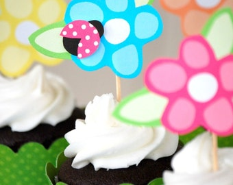 How Does Your Garden Grow Collection - Custom Cupcake Toppers and Their Wraps from Mary Had a Little Party