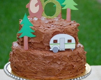 The Great CAMPOUT Collection - Custom Cake Topper Set from Mary Had a Little Party