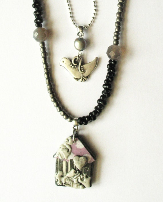 Our House by Lei Design in Pink, Black and Silver COUPONCODE 40% OFF