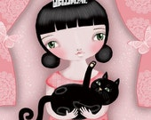 Kitty and Me - Fine Art Print