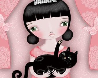 Kitty and Me - Fine Art Print