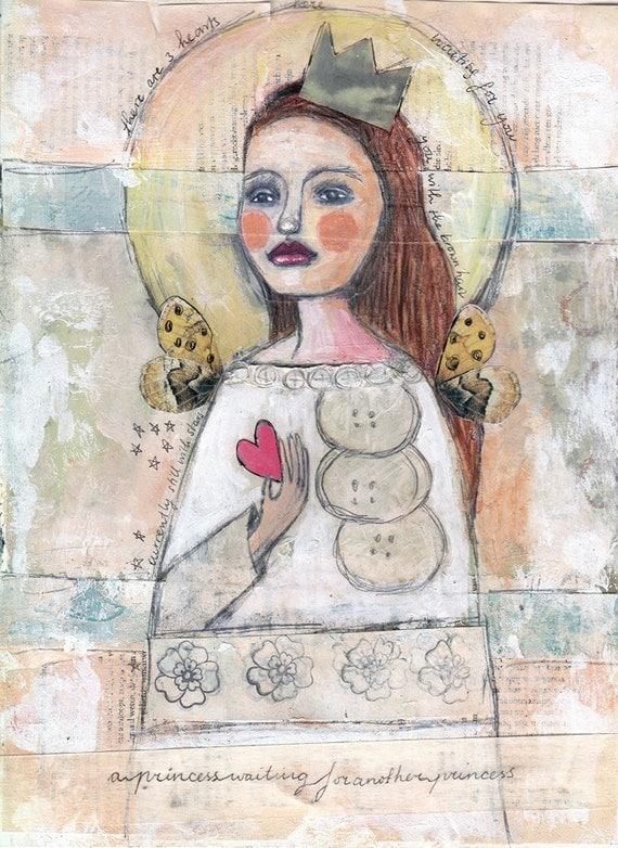A princess waiting - Fine Art Print