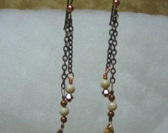 Copper Chain Dangle earrings