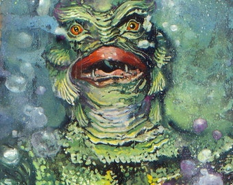 """The Creature From The Black Lagoon  """"Gill-Man"""" (Fine Art Print not the real Creature)"""