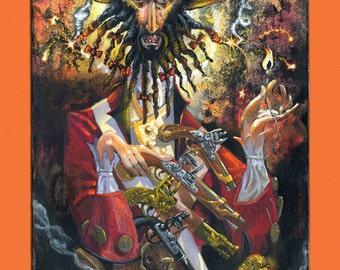 Edward Teach a.k.a. Blackbeard  (Fine Art Print not the real Pirate)