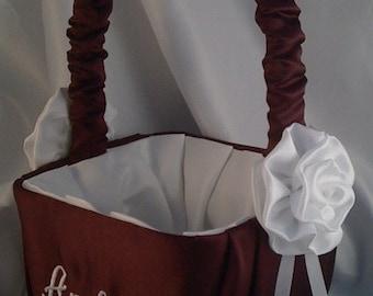 Monogram Flower Girl Basket - Custom