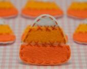 Set of 6pcs handmade felt Candy Corn--pumpkin (FT904)