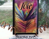 JOIE Francais Joy FRENCH Motivational Happiness Yoga Meditation Inspirational Positive Thinking Friends Heartful Art by Raphaella Vaisseau