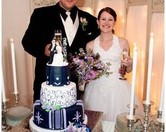 Custom  Wedding/ Anniversary Keepsake Cake Topper