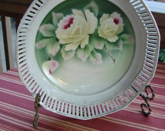 Vintage Hand Painted Bowl with Roses