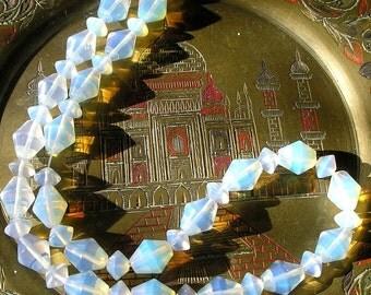 Opalite Beads- Full Strand Sea Opal, Opalite Bicone Beads For Jewelry Making and Beaded Jewelry