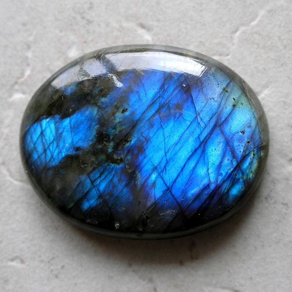 Vintage Labradorite Spectrolite Cabochon- Blue Flash Labradorite Cabochon For Jewelry Making
