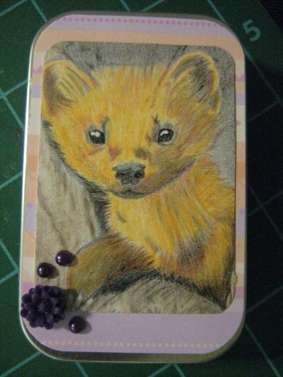 100% Donation Item: Pine Marten/Little Fox Business Card Case, Super Cute Tampon Purse Case