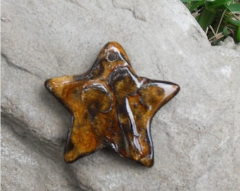 Brown Oasis Textured Star Pendant