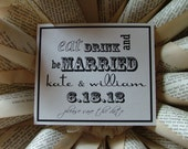 Eat Drink & Be Married Save the date cards - Digital Printable Save the Date - Save the dates