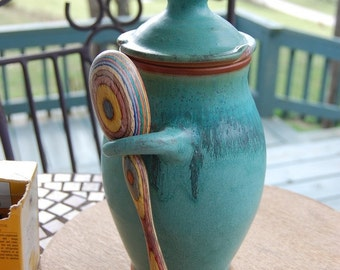 Kitchen Canister in Turquoise - Made to Order