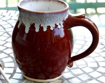 Huge Monster Mug in Red Agate - Made to Order