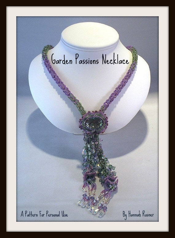 Beading Pattern Garden Passions Necklace Seed Beads TUTORIAL INSTRUCTIONS spring