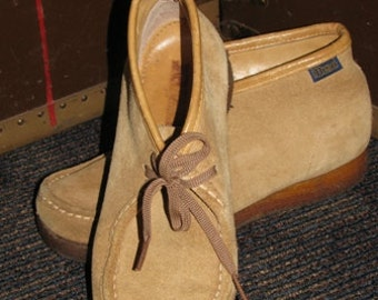 Dexter Shoes, Size 8 Suede Shoes, 1970's vintage,  Mod style, Moccasin fashion Shoes, Made in USA retro 70's