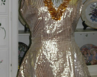 Space Age Costume Dress, Silver & Pink Size 8, Sexy Retro 50's Women's Pin Up Girl Clothing Classic Party Dress