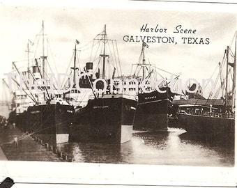 Galveston Harbor Side  Landmark Photograph, Boat, Shrimp Boats, Galveston Texas Gulf of Mexico Beach Boulevard 91F
