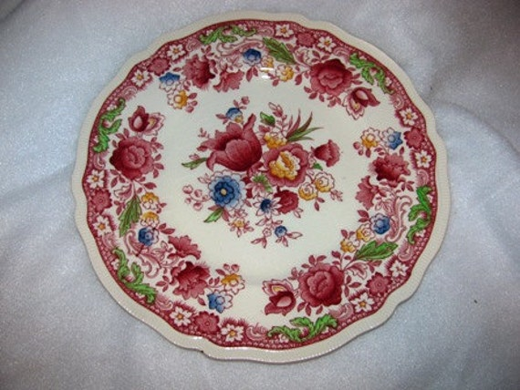 Vintage Dorchester by Johnson Brother Dinner Plate, Roses, Floral Pattern, Beautiful, Missing China Pattern 52c