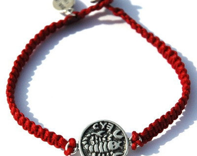 925 Silver Healing & Recovery Coin Amulet on Red Hand Woven Bracelet for Men and Women