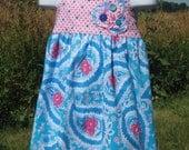 SALE Size 3T Summer Dress Halter Style Custom Boutique Tropical So St. Croix